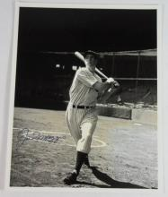Joe Dimaggio Autographed Photo COA.