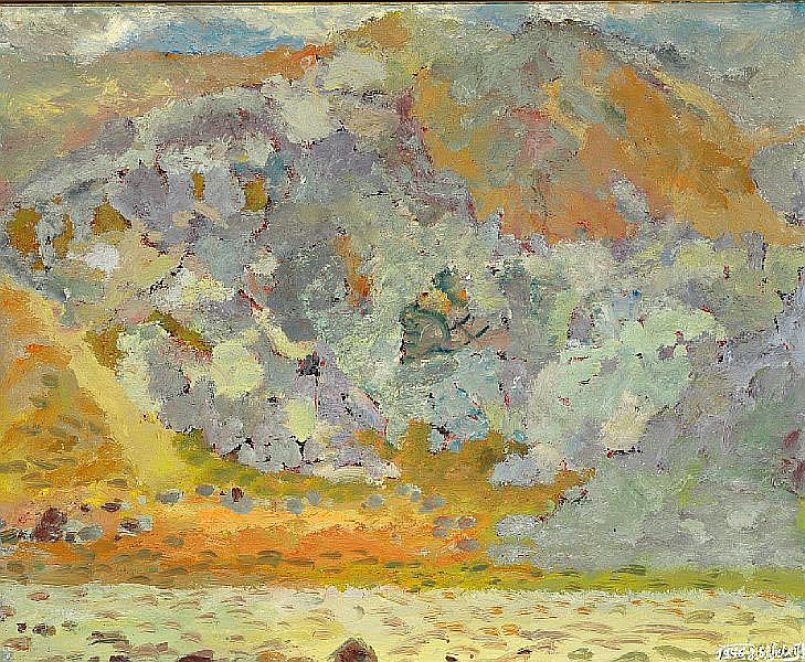 Johannes S. Kjarval: Landscape. Signed and dated J. S. Kjarval 1946. Oil on canvas. 80 x 98 cm.