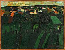 Hans Voigt Steffensen: Scenery. Signed H. Voigt