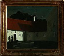 Harald Slott-Møller: Scenery from a Manorhouse.