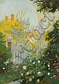 Anna Ancher: View from the garden gate at Markvej where Anna og Michael Ancher lived., Anna Ancher, Click for value