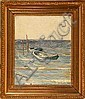 Cilius Andersen: Dinghies at sea. Signed Cilius A., Cilius Andersen, Click for value