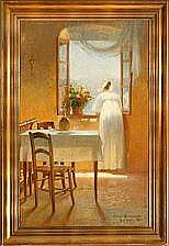 Cilius Andersen Interior from Italy with a woman