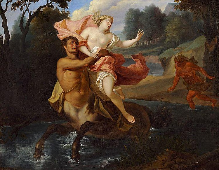 Karl Haase: The Abduction of Deianeira by the Centaur Nessus.