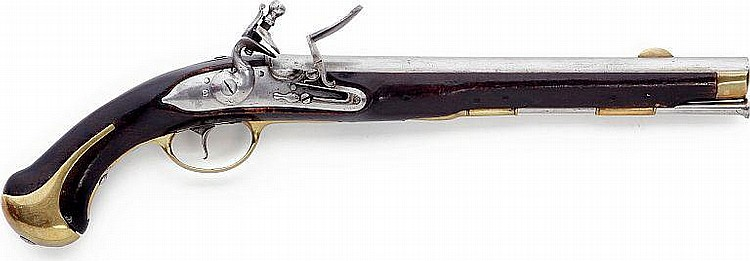 A good Danish military flint lock pistol pattern 1772 without unit markings.