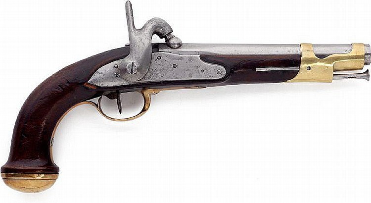 A Danish ex French pistol pattern 1849 for the Royal Life Guard.