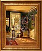 Frederik Wilhelm Svendsen: Living room interior., Frederik Wilhelm Svendsen, Click for value