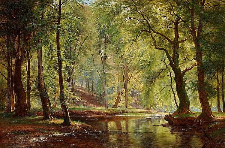 C. F. Aagaard: A day in June in Lellinge forest.