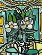 Amélia Pelaez: Composition. Signed A. Pelaez 67. Tempera on canvas. Visible size 59 x 44 cm., Amelia Pelaez, Click for value