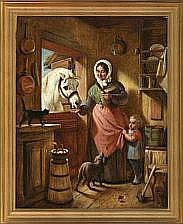 Nicolai Habbe Scullery with mother and child