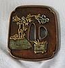 A Japanese Bronze Tsuba, Probably Meijii Period ,