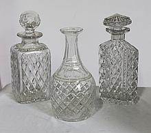 A Selection of Edinburgh Crystal Decanters,