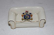 A Souvenir Ware Scale Model of a Settee,