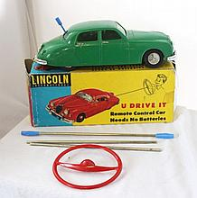 A Boxed Lincoln International U Drive It Remote Control Car,