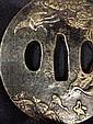 A Japanese Bronze Tsuba, Meijii Period