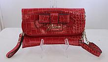 A Guess Red Bow Clutch Purse l 19cm
