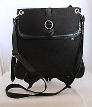 An Oroton Black Shoulder Bag oh 83cm h 30cm