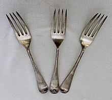 A Set of Three Edwardian Sterling Silver Table