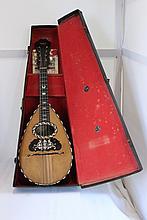A 19th Century Italian Boxed Mandolin , Pasquale