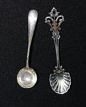 A Selection of Various Salt Spoons , one mounted
