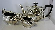 A George V Three Piece Sterling Silver Tea Set,