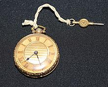 A English 19th Century Yellow Gold Open Faced