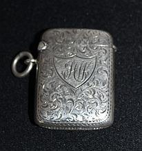 A George V Sterling Silver Vesta, London 1923,
