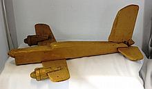 An Australian Folk Art Scale Model of a Plane ,