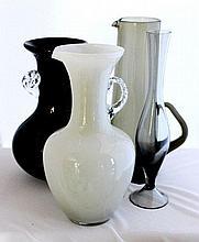 An American Glass Lemonade Pitcher, c 1950,