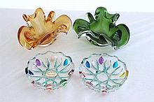 A Pair of Figural Murano Glass Ashtrays, c 1960