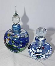 A Selection of Modernist Glass Scent Bottles, Probably Australian