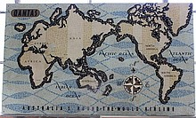 An Early Qantas Planisphere , c 1958, Possibly by Anna Drew