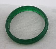A Spinach Hardstone Bangle