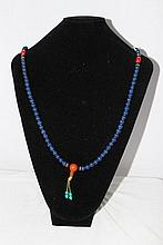 A Chinese Stone Beaded Necklace