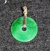 A Chinese Yellow Gold Mounted Hardstone Pendent