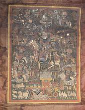 A Sino Tibetan Thanka ,Probably 17/18th Century