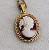 A Gold Mounted Cameo Pendent ,