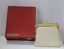 A Boxed Vintage Glomesh Ladies Evening Bag , c 1960