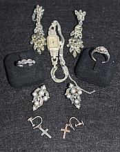 A Selection of Vintage Marcazite Set Jewellery,