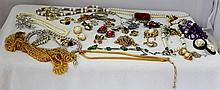 A Large Bag of Vintage Costume Jewellery,
