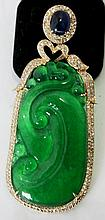 An  Gold Jade Mounted Pendent  ,