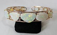 An  Rose Gold Opal Mounted Bracelet