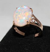 An  Rose Gold Opal Mounted Ladies Dress Ring