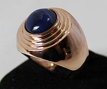 An Rose Gold Star Sapphire Set Dress Ring