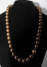 A String of Costume Jewellery Pearls