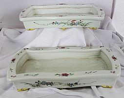 A Good True Pair of Chineses Famille Rose Narcissus Trays ,