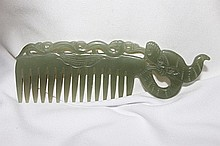 A Chinese Jade Comb