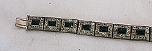 An Art Deco Rhinestone Set Bracelet, c 1940