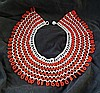A Vintage Tribal Glass Beaded Collar,