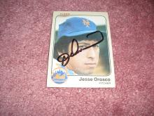Jesse Orosco 1983 Fleer Autograph Card